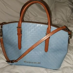 Claremont Woven Domed Leather Embossed Satchel